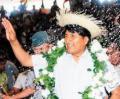 Presidente Morales entrega obras de pavimento rígido en Cotoca-Santa Cruz
