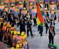 La delegación boliviana en la inauguración de los Juegos Olímpicos Río 2016