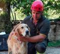 Romeo, el can que estuvo nueve días bajo escombros