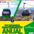 Mi Teleférico suspende servicios en las líneas Amarilla y Verde hasta el viernes 28