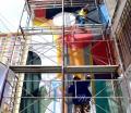 Artistas muestran su talento en muros de Sopocachi